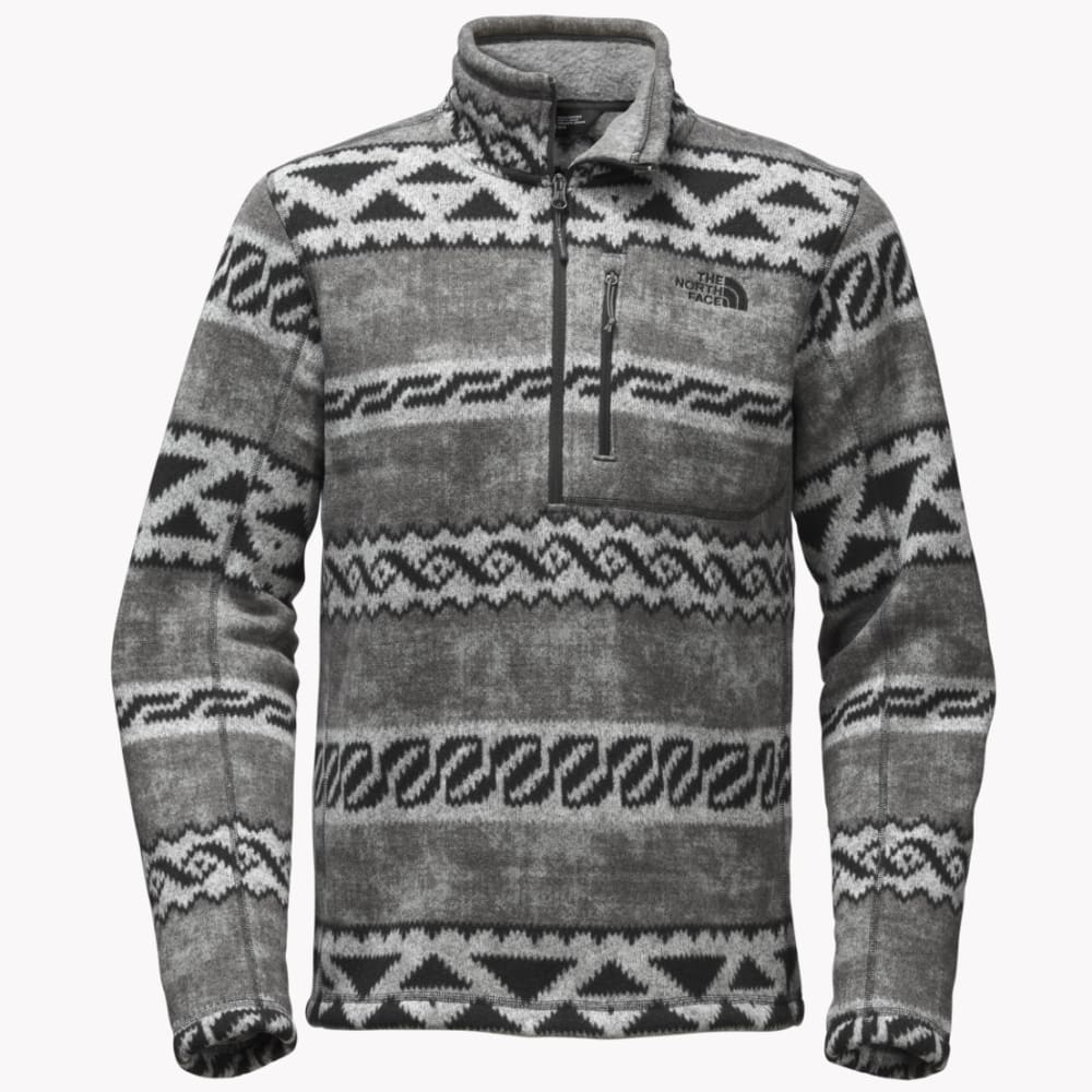 THE NORTH FACE Men's Novelty Gordon Lyons ¼ Zip Sweater - XWK-ASPHALT GRY WOOL