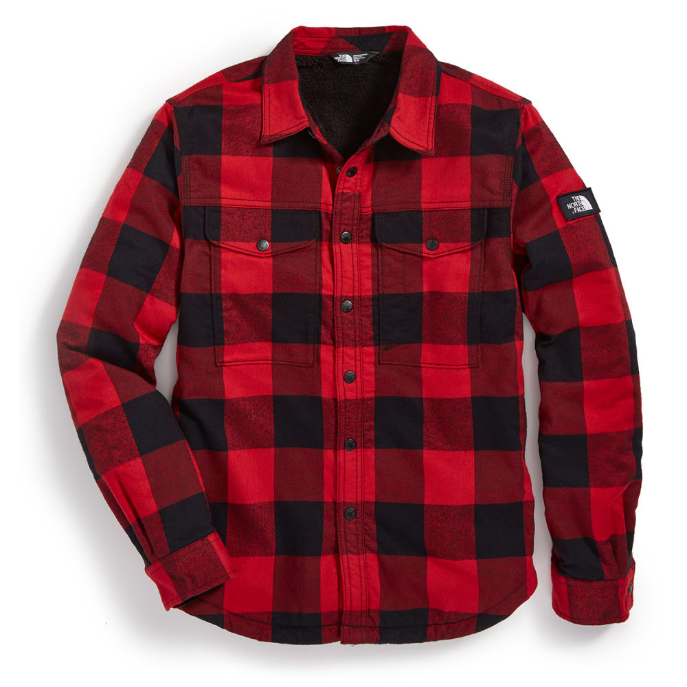 THE NORTH FACE Men's Hike-In Sherpa Shirt - Q8V-RAGE RED PLAID