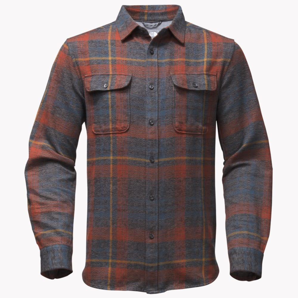 The North Face Men's Long-Sleeve Arroyo Flannel Shirt - U34-ASPHALT GRY PLAI