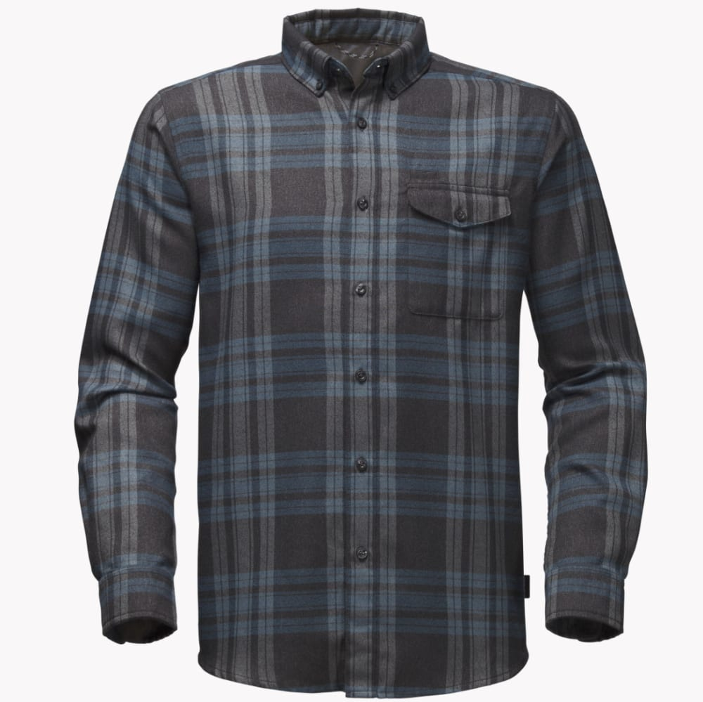 THE NORTH FACE Men's Long-Sleeve Thermocore Shirt - U34-ASPHALT GRY PLAI