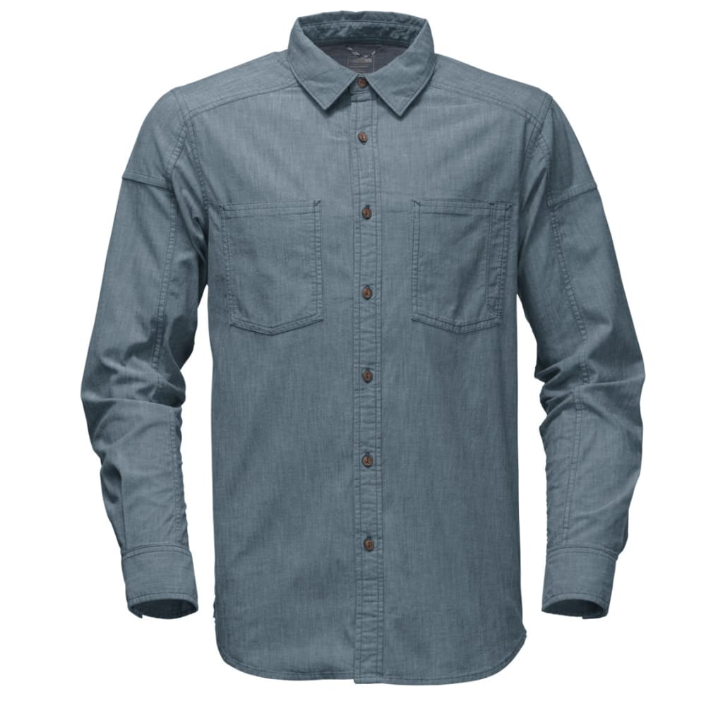 THE NORTH FACE Men's Long-Sleeve Montgomery Utility Shirt - KE4-CONQUER BLUE