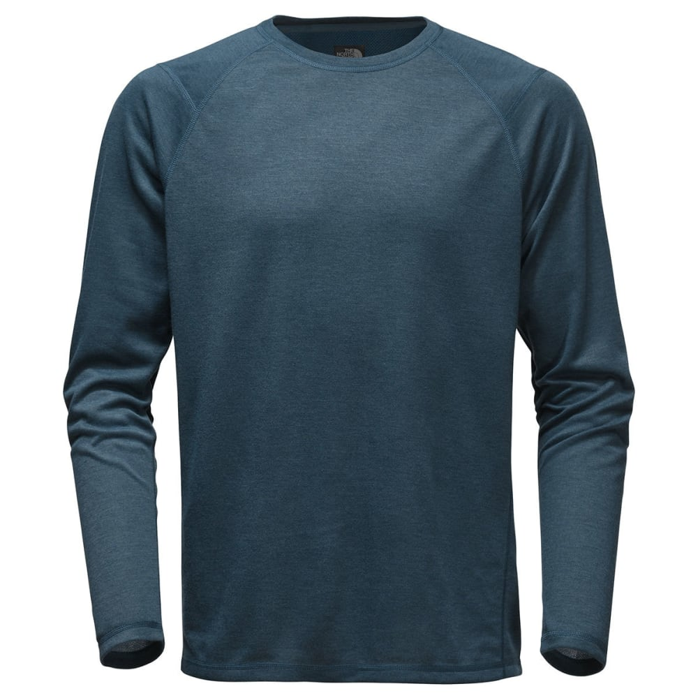 THE NORTH FACE Men's Plaited Crag Long-Sleeve Crew Shirt - HKW-SHADY BLUE HTR