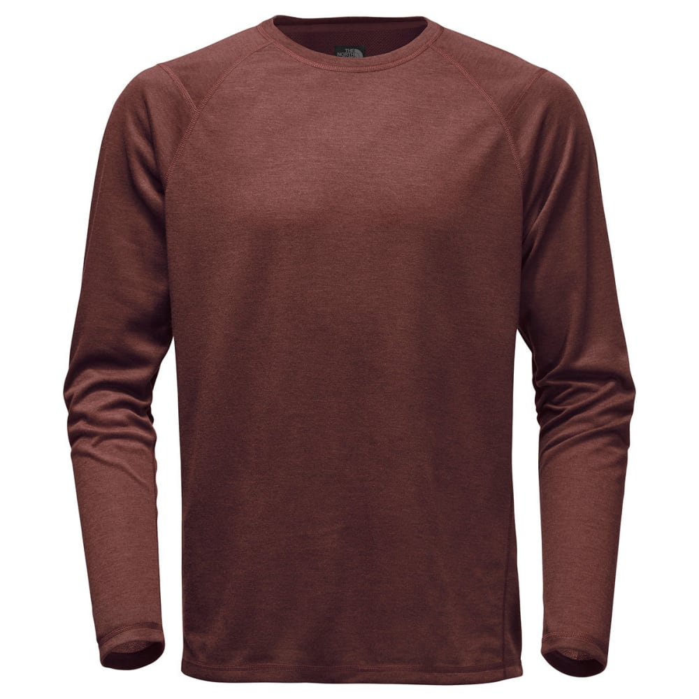 THE NORTH FACE Men's Plaited Crag Long-Sleeve Crew Shirt - NYO-SEQUOIA RED HTR