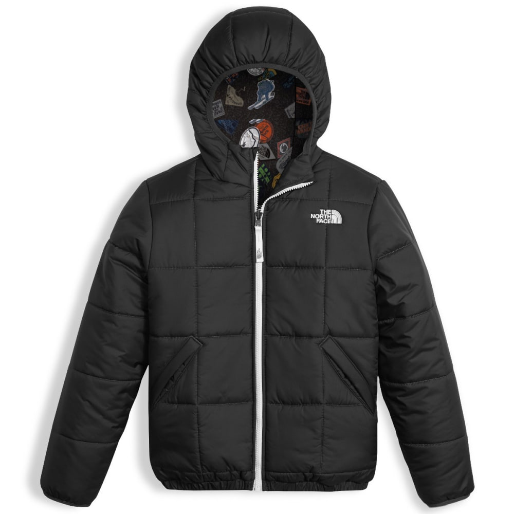 THE NORTH FACE Boys' Reversible Perrito Jacket - JK3-TNF BLACK