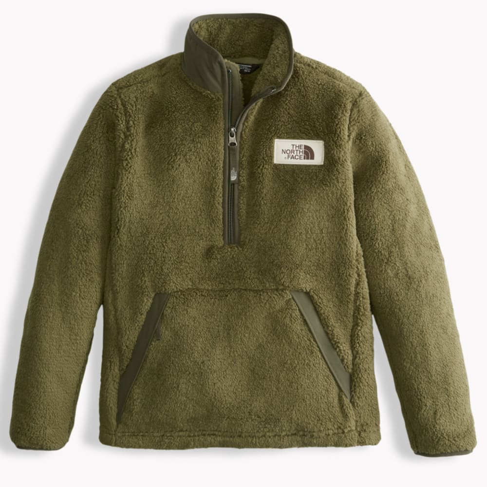 THE NORTH FACE Boys' Campshire Pullover - 7D6-BURNT OLIVE GRN