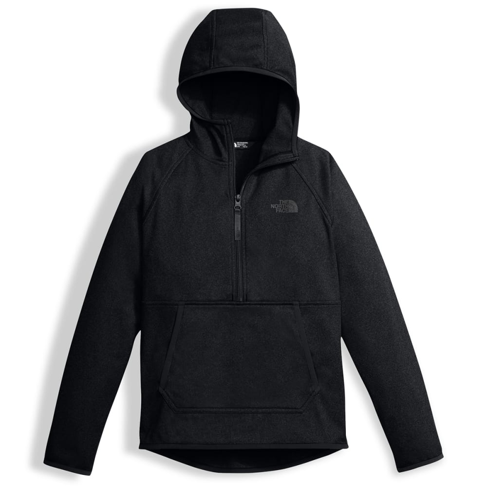 THE NORTH FACE Boys' Tech Glacier Quarter Zip Hoodie - JK3-TNF BLACK