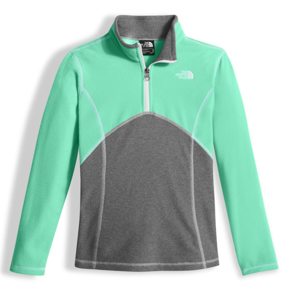 THE NORTH FACE GIRLS' Glacier 1/4 Zip - RWW-BERMUDA GREEN