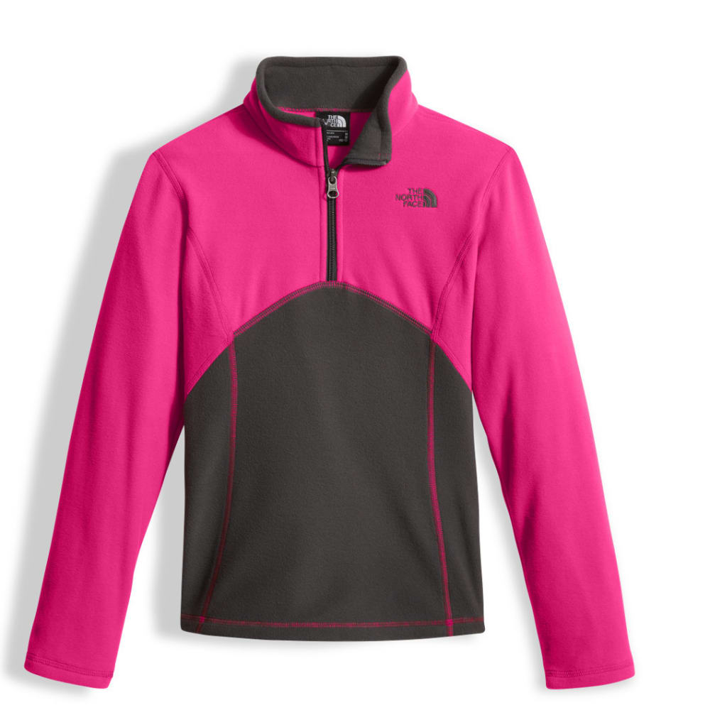 THE NORTH FACE GIRLS' Glacier 1/4 Zip - 79M-PETTICOAT PINK