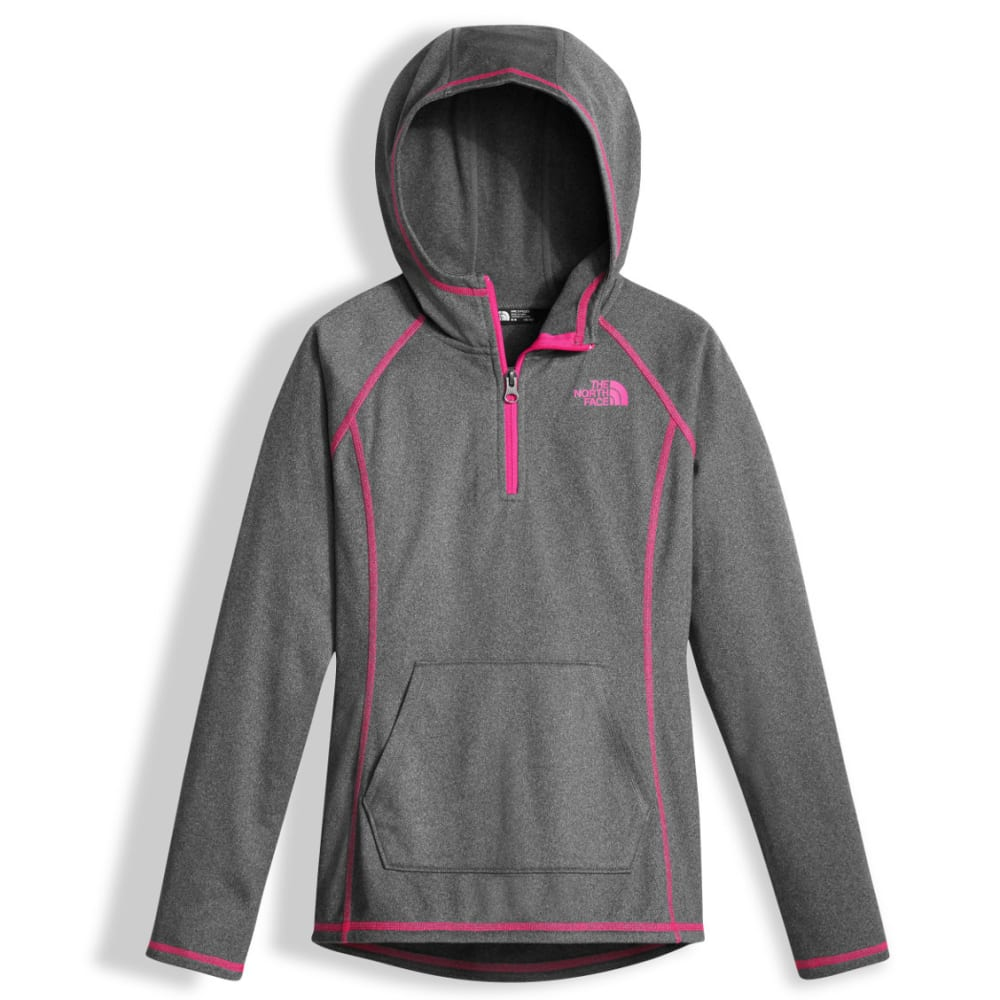 THE NORTH FACE Girls' Tech Glacier ¼ Zip - DYY-TNF MED GRY HTR