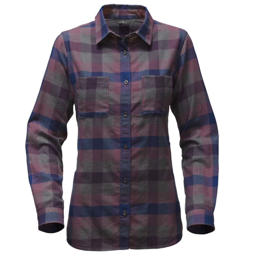 THE NORTH FACE Women's Trail Ready Long-Sleeve Shirt - YMK-ESTATE BLU PLAID