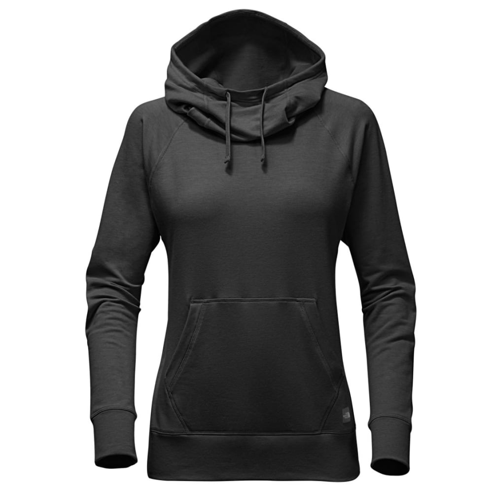 THE NORTH FACE Women's Long-sleeve TNF Terry Hooded Top - DYZ-TNF DARK GRY HTR