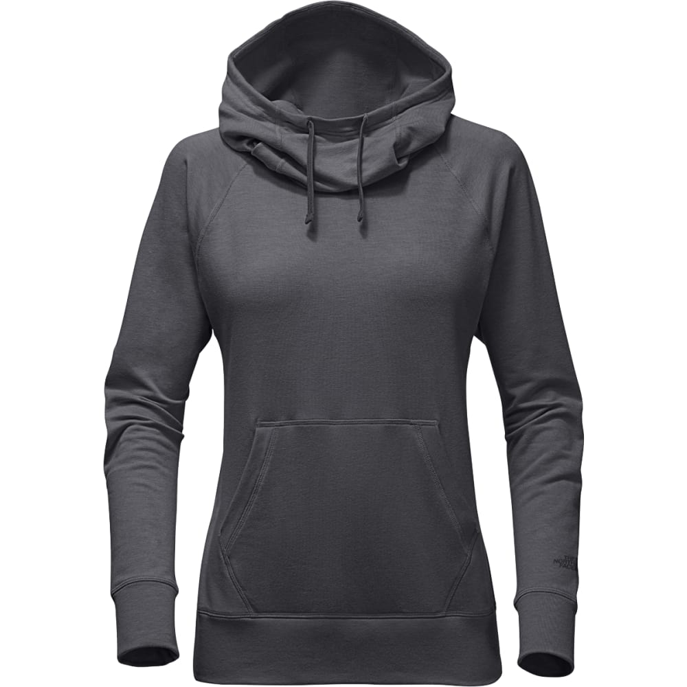 THE NORTH FACE Women's Long-sleeve TNF Terry Hooded Top - DYY-TNF MED GREY HTR