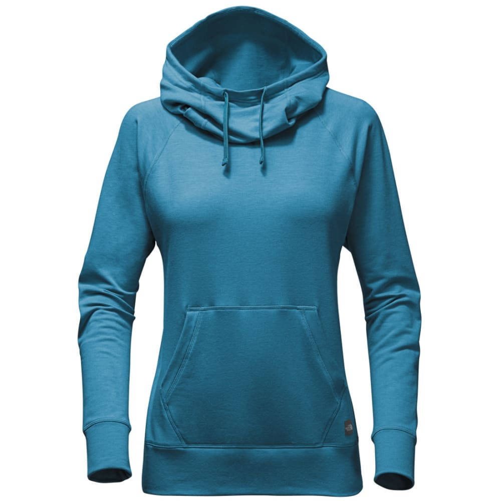 THE NORTH FACE Women's Long-sleeve TNF Terry Hooded Top - H6S-EGYPTIAN BLUE HT