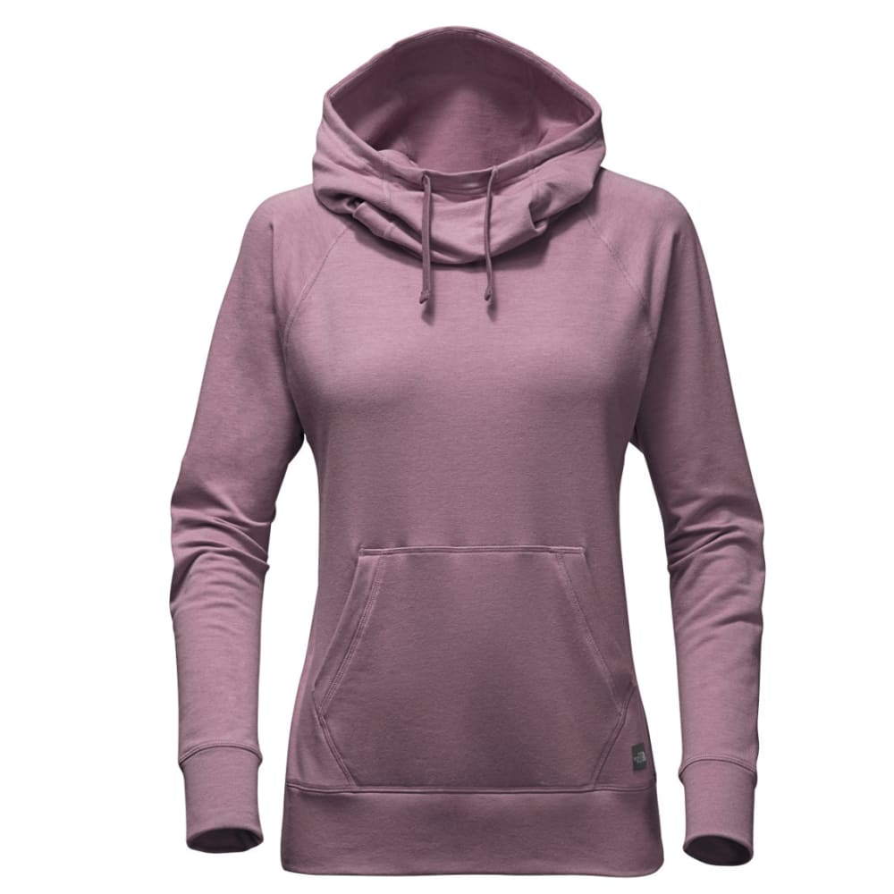 THE NORTH FACE Women's Long-sleeve TNF Terry Hooded Top - VBW-BLK PLUM HTR