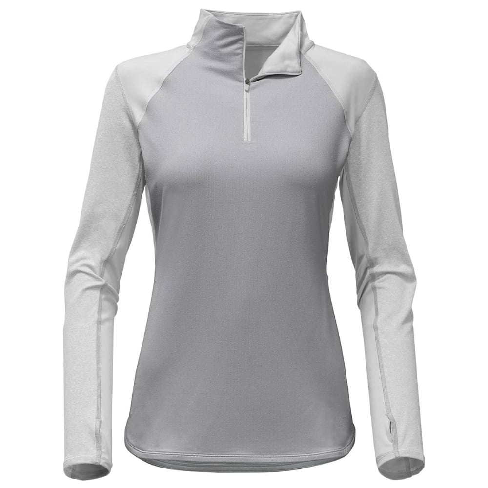 THE NORTH FACE Women's Motivation ¼-Zip Long-Sleeve Pullover - DYX-TNF LT GREY HTR