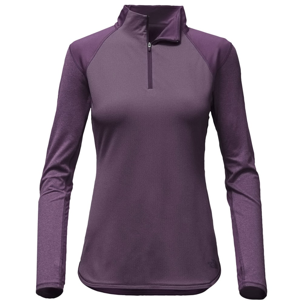 THE NORTH FACE Women's Motivation ¼-Zip Long-Sleeve Pullover - 374-DK EGGPLANT PURP