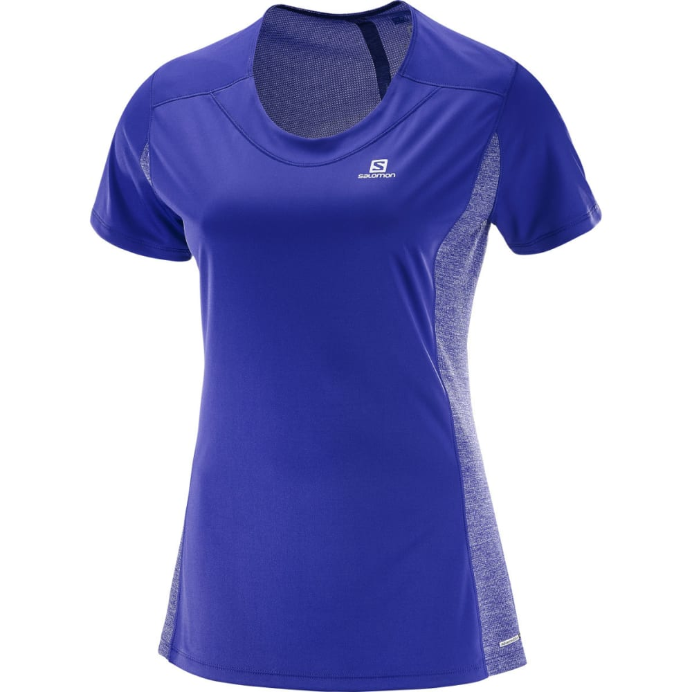 SALOMON Women's Agile Short-Sleeve  Tee - 100-SPECTRUM BLUE