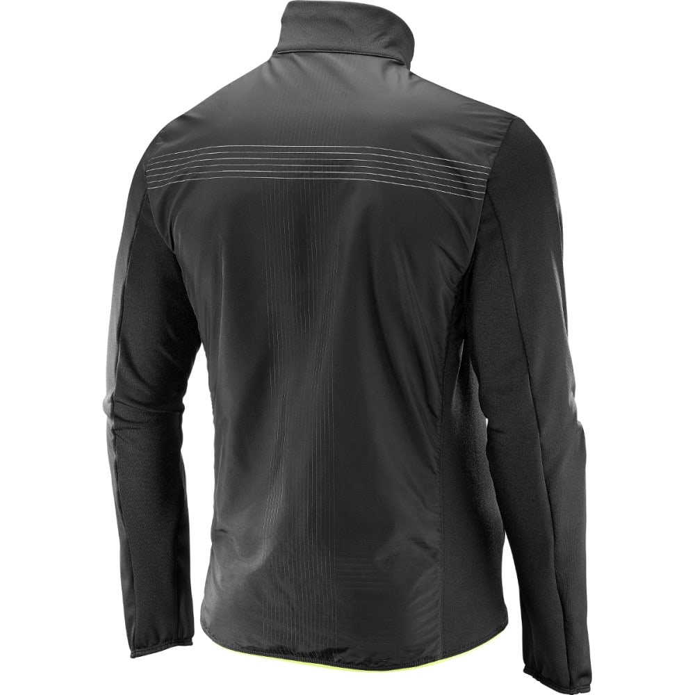 SALOMON Men's Pulse Mid Reflective Jacket - 000-BLACK