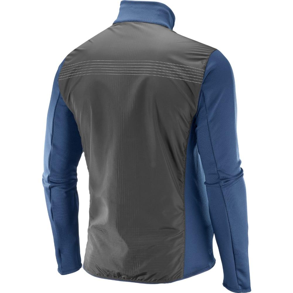 SALOMON Men's Pulse Mid Reflective Jacket - 100-DRESS BLUE/BLK