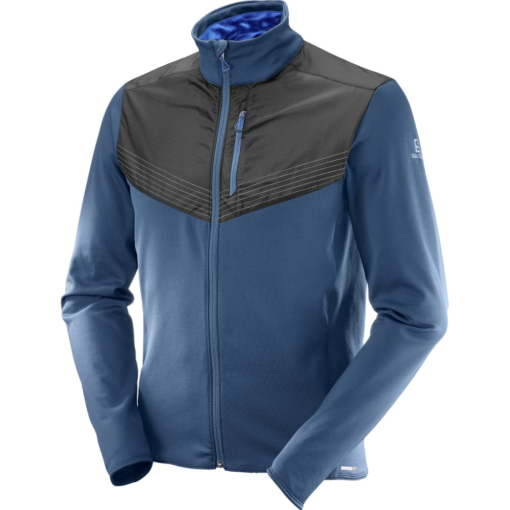 SALOMON Men's Pulse Mid Reflective Jacket - 100-DRESS BLUE/BLK