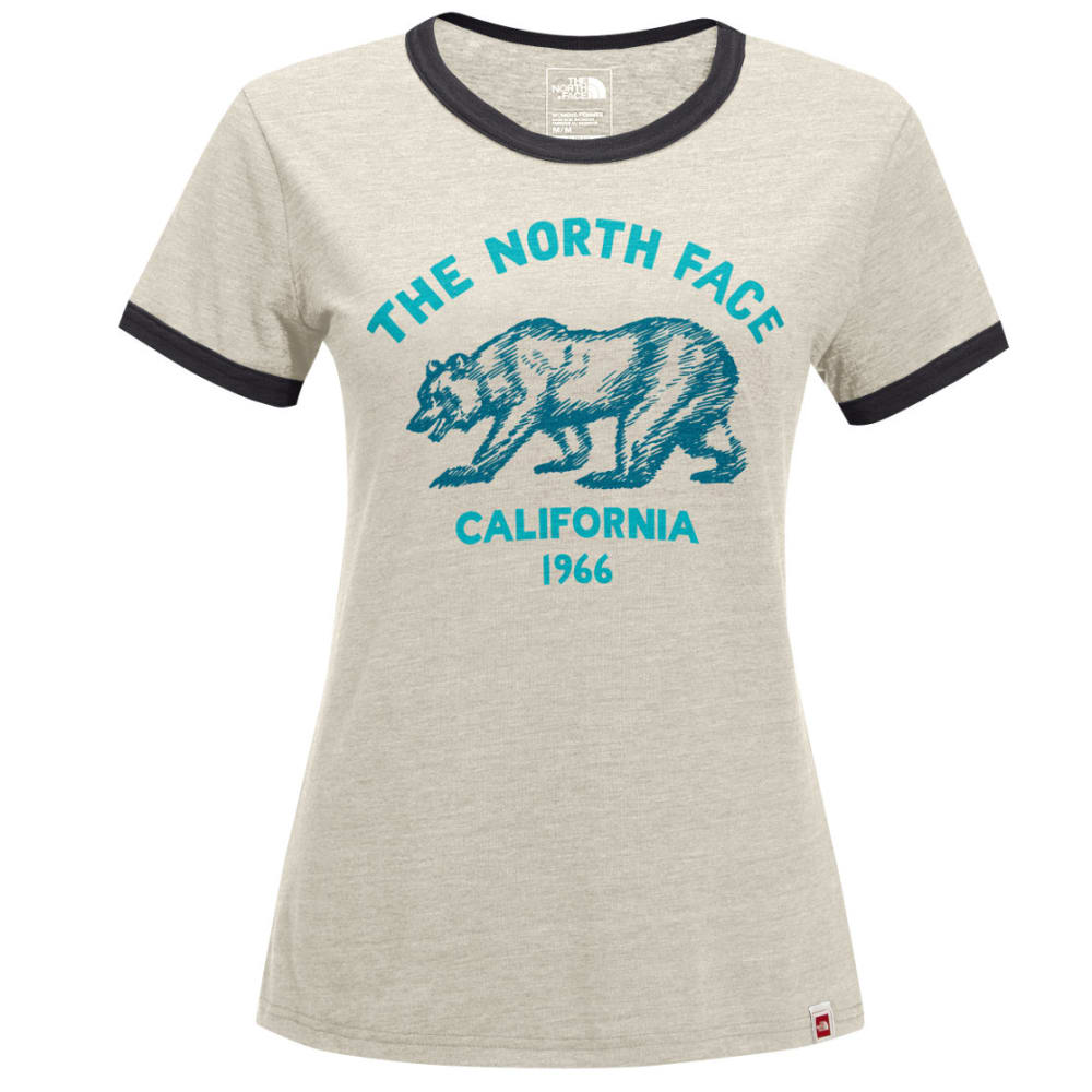 THE NORTH FACE Women's Mascot Ringer Tee - XVJ-VINTAGE WHT HTR