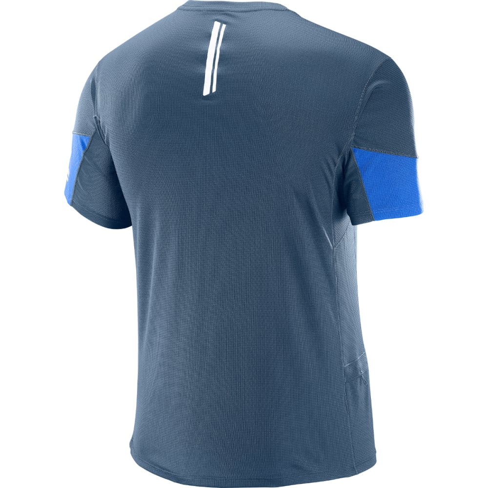 SALOMON Men's Agile Short-Sleeve  Tee - 200-DRESS BLUE/SURF