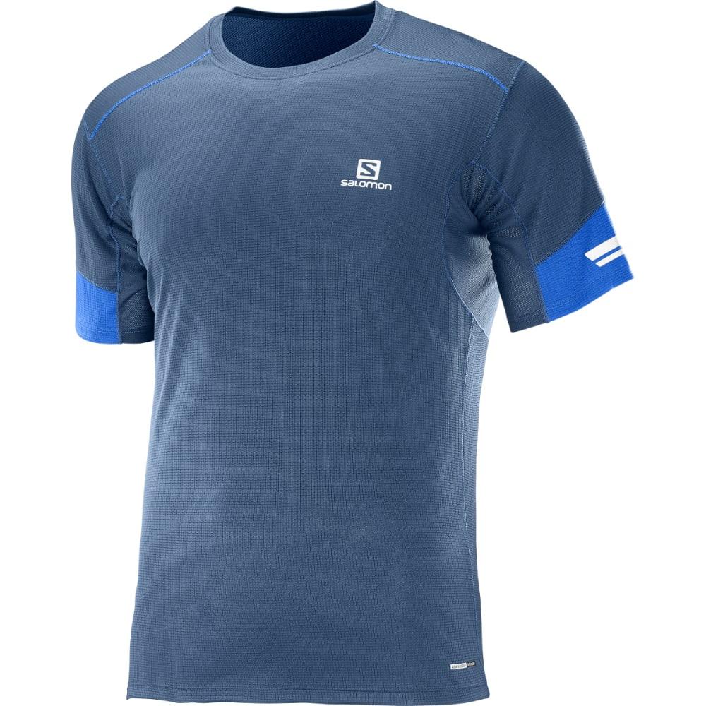 SALOMON Men's Agile Short-Sleeve  Tee - 200-DRESS BLUE/SURF