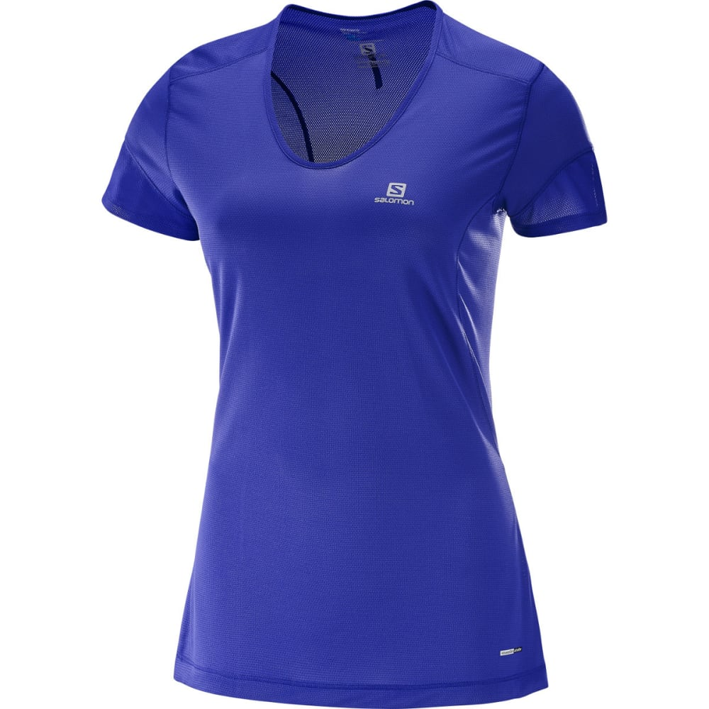SALOMON Women's Trail Runner Short-Sleeve  Tee - 500-SPECTRUM BLUE