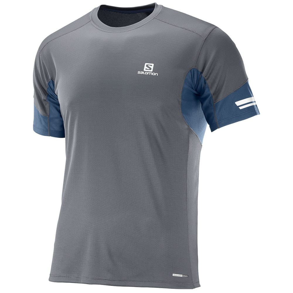 SALOMON Men's Agile Short-Sleeve Tee - 700-FORGED IRON/DRES
