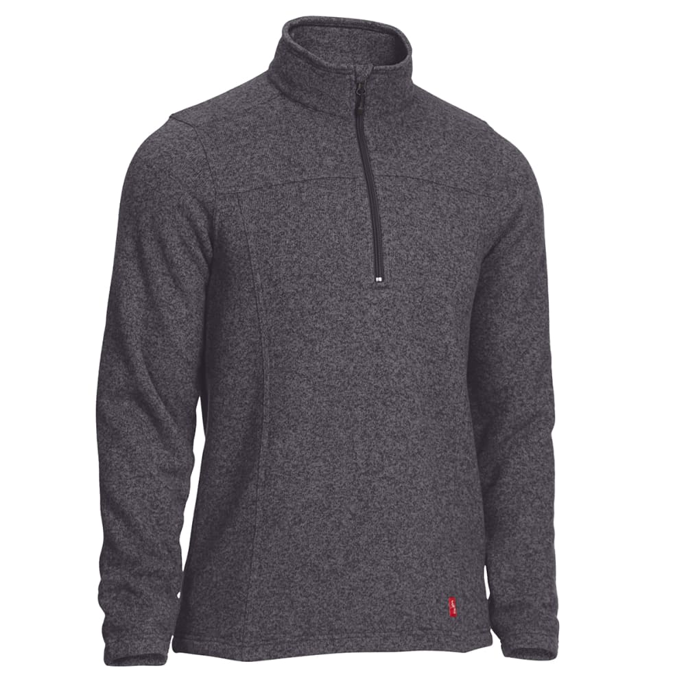 EMS Men's Roundtrip Quarter Zip Pullover - EBONY HEATHER