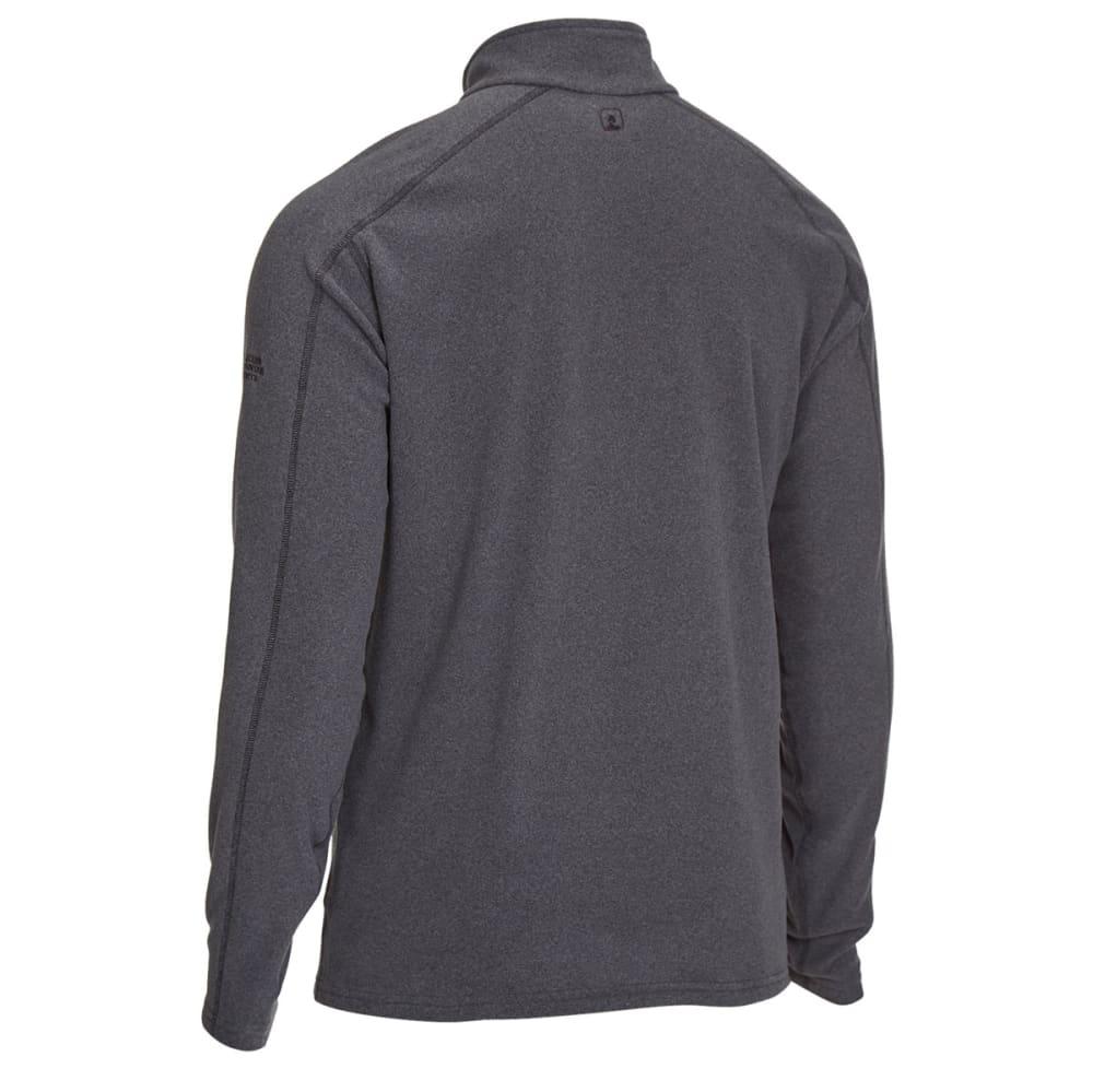 EMS Men's Classic Micro Fleece Quarter Zip - CHARCOAL HEATHER