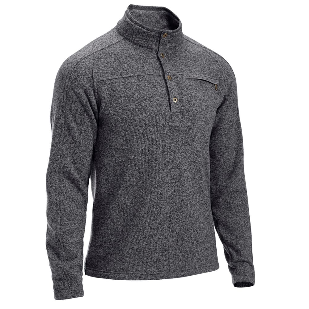 EMS Men's Roundtrip Buttoned Pullover - CASTLEROCK HEATHER