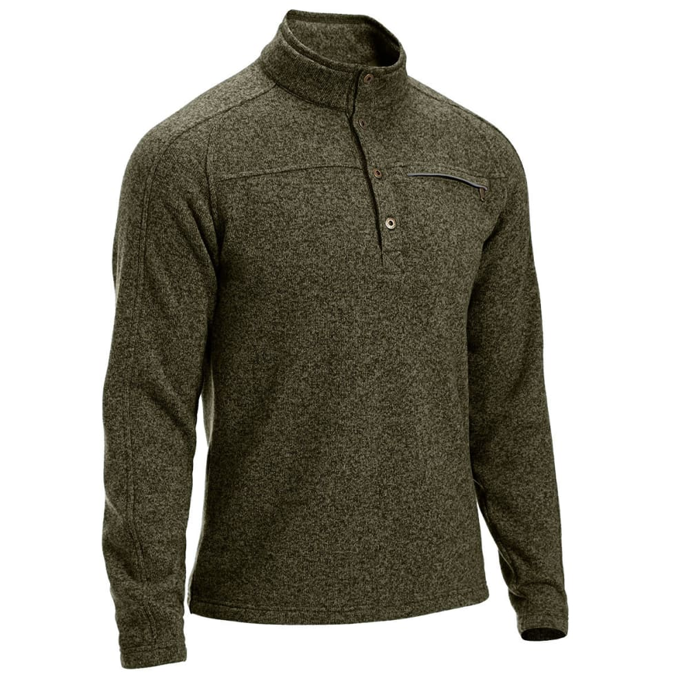 EMS® Men's Roundtrip Buttoned Pullover - FOREST NIGHT HEATHER