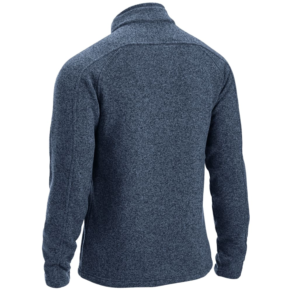 EMS Men's Roundtrip Buttoned Pullover - NAVY BLAZER HEATHER