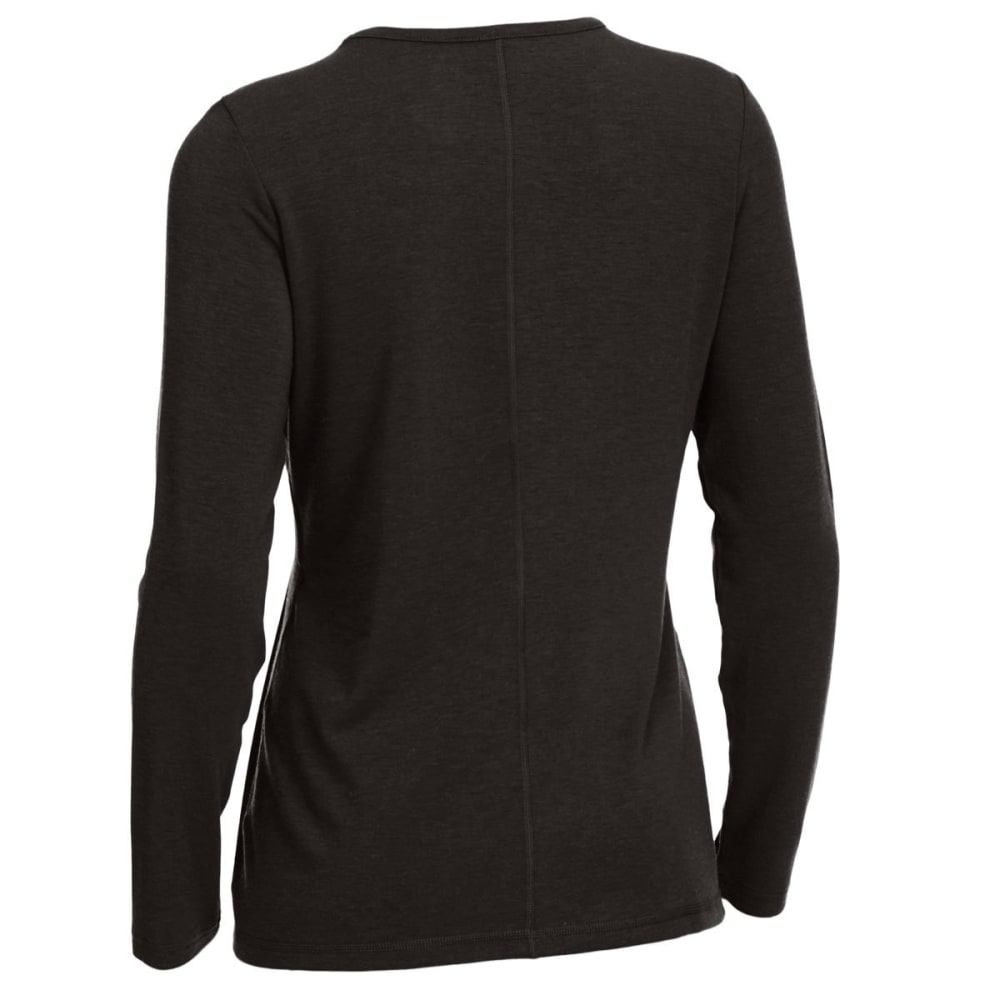 EMS® Women's Techwick® Journey Long-Sleeve Top - BLACK HEATHER