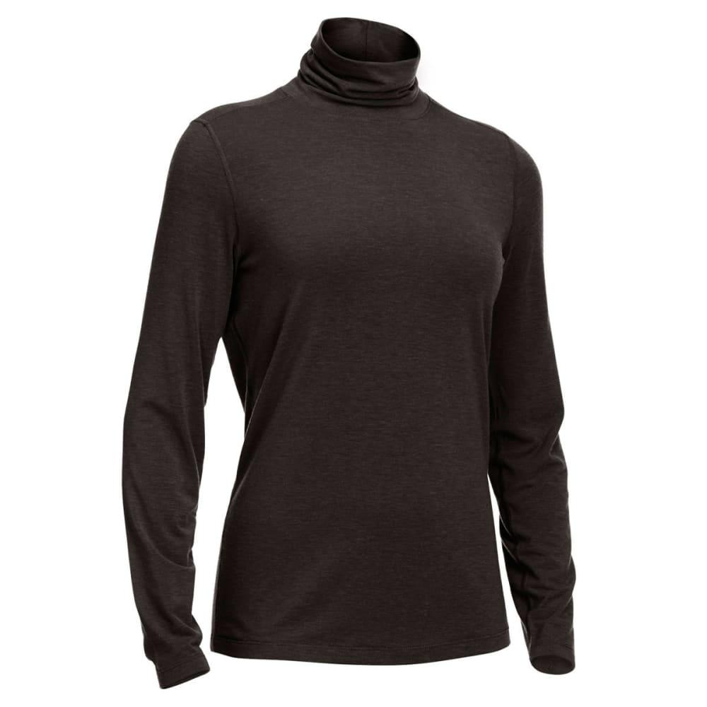 EMS® Women's Techwick® Journey Long-Sleeve Turtleneck Top - BLACK HEATHER