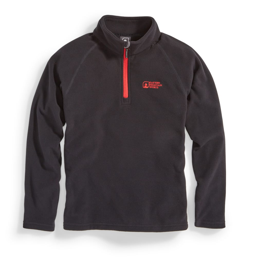 EMS Boys' Classic Micro Fleece 1/4 Zip - BLACK