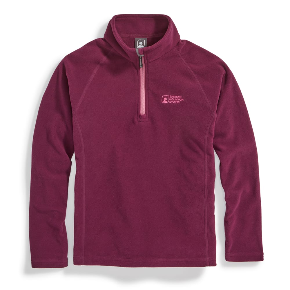 EMS® Girls' Classic Micro Fleece ¼-Zip - PICKLED BEET