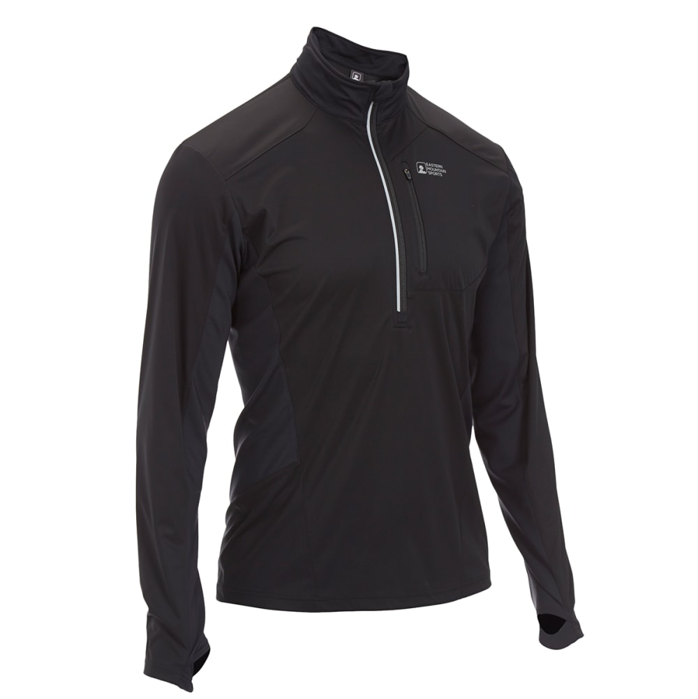 EMS Men's Techwick Crosswind 1/2-Zip Pullover - BLACK
