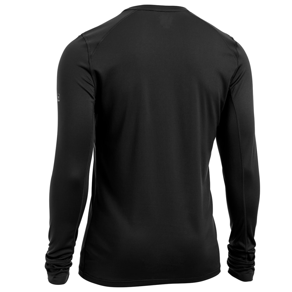 EMS Men's Techwick Lightweight Base Layer Crew Shirt - BLACK