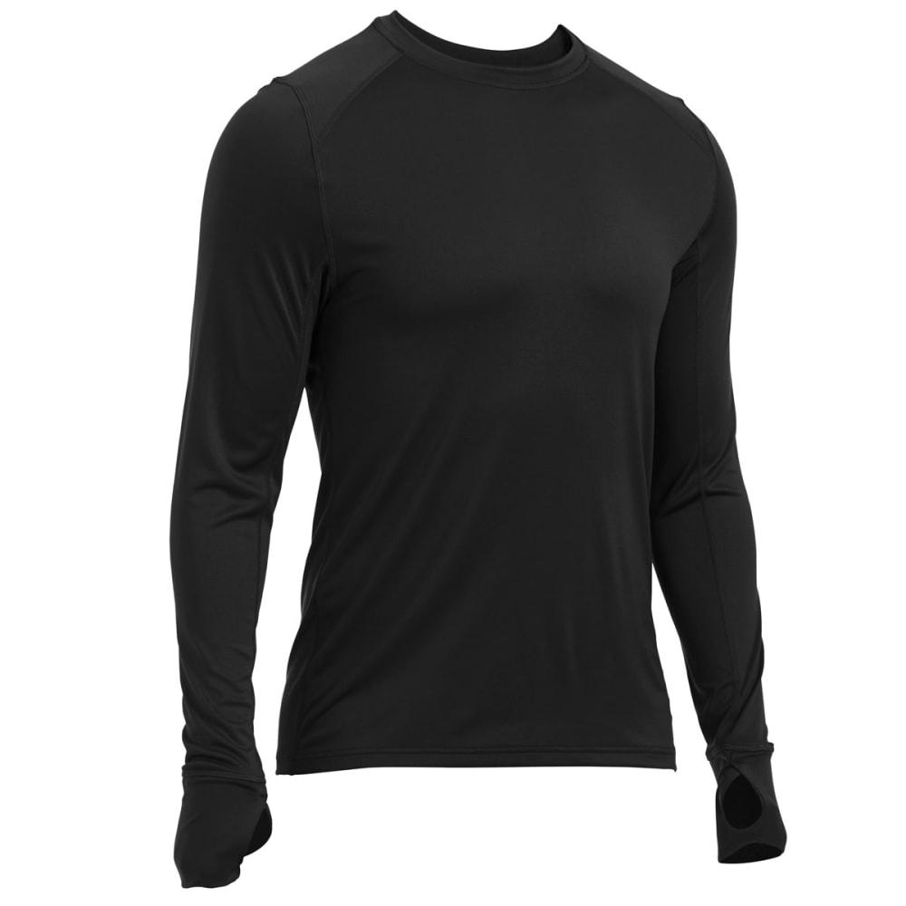 EMS Men's Techwick Lightweight Base Layer Crew Shirt - BLACK