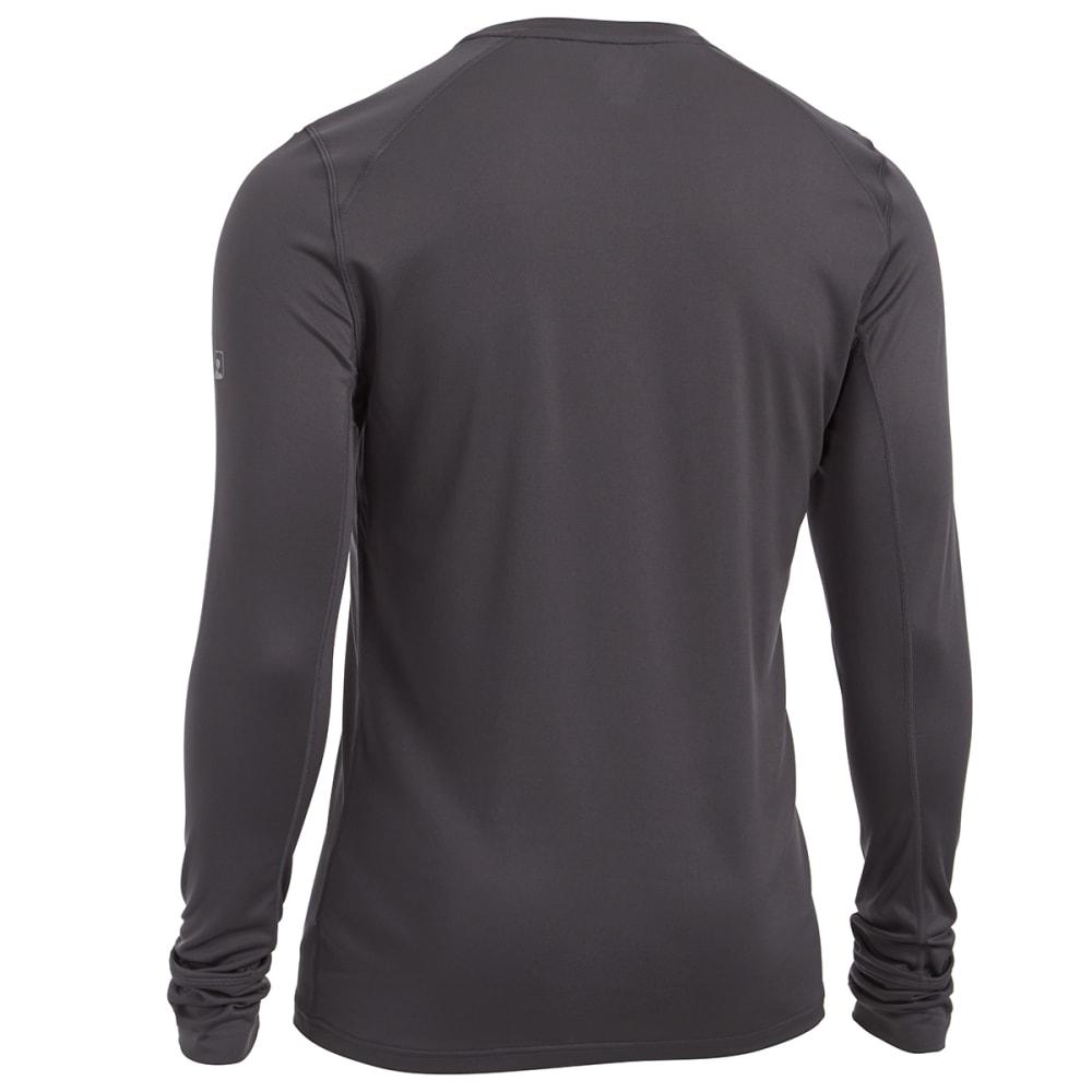 EMS Men's Techwick Lightweight Base Layer Crew Shirt - FORGED IRON