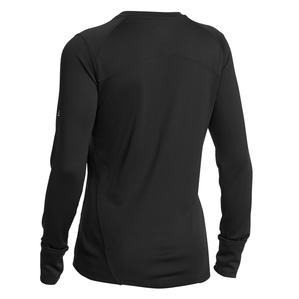 EMS® Women's Techwick® Lightweight Long-Sleeve Crew Baselayer - BLACK