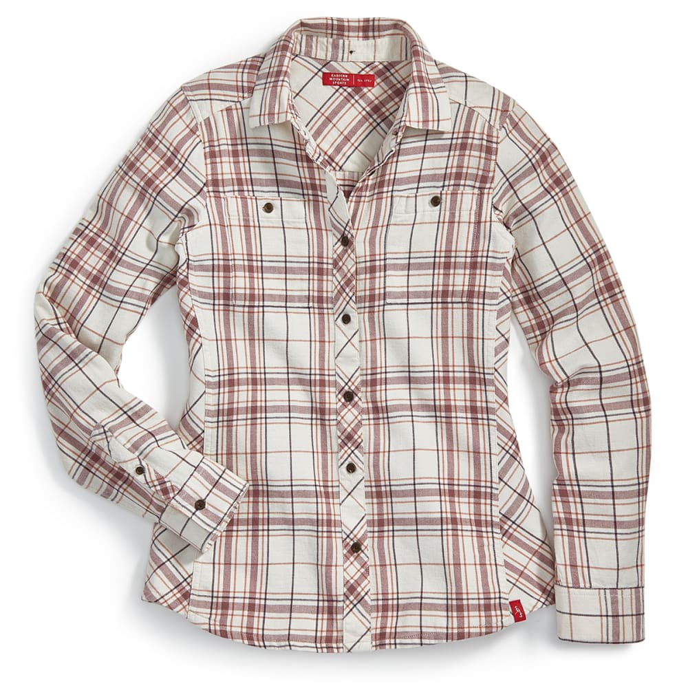 EMS Women's Cabin Flannel Long-Sleeve Shirt - TURTLEDOVE