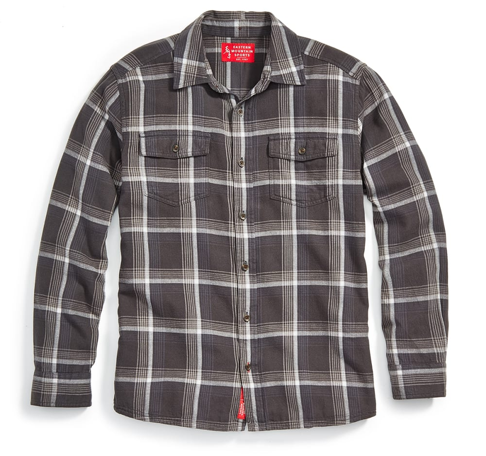 EMS Men's Cabin Flannel Long-Sleeve Shirt - PHANTOM