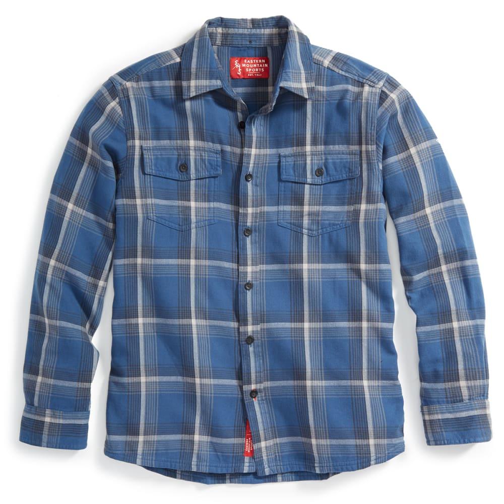 EMS Men's Cabin Flannel Long-Sleeve Shirt - ENSIGN BLUE