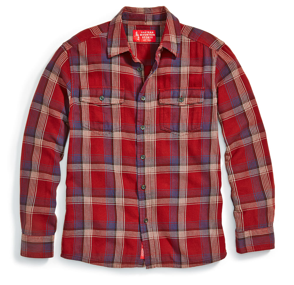 EMS Men's Cabin Flannel Long-Sleeve Shirt - FIRED BRICK