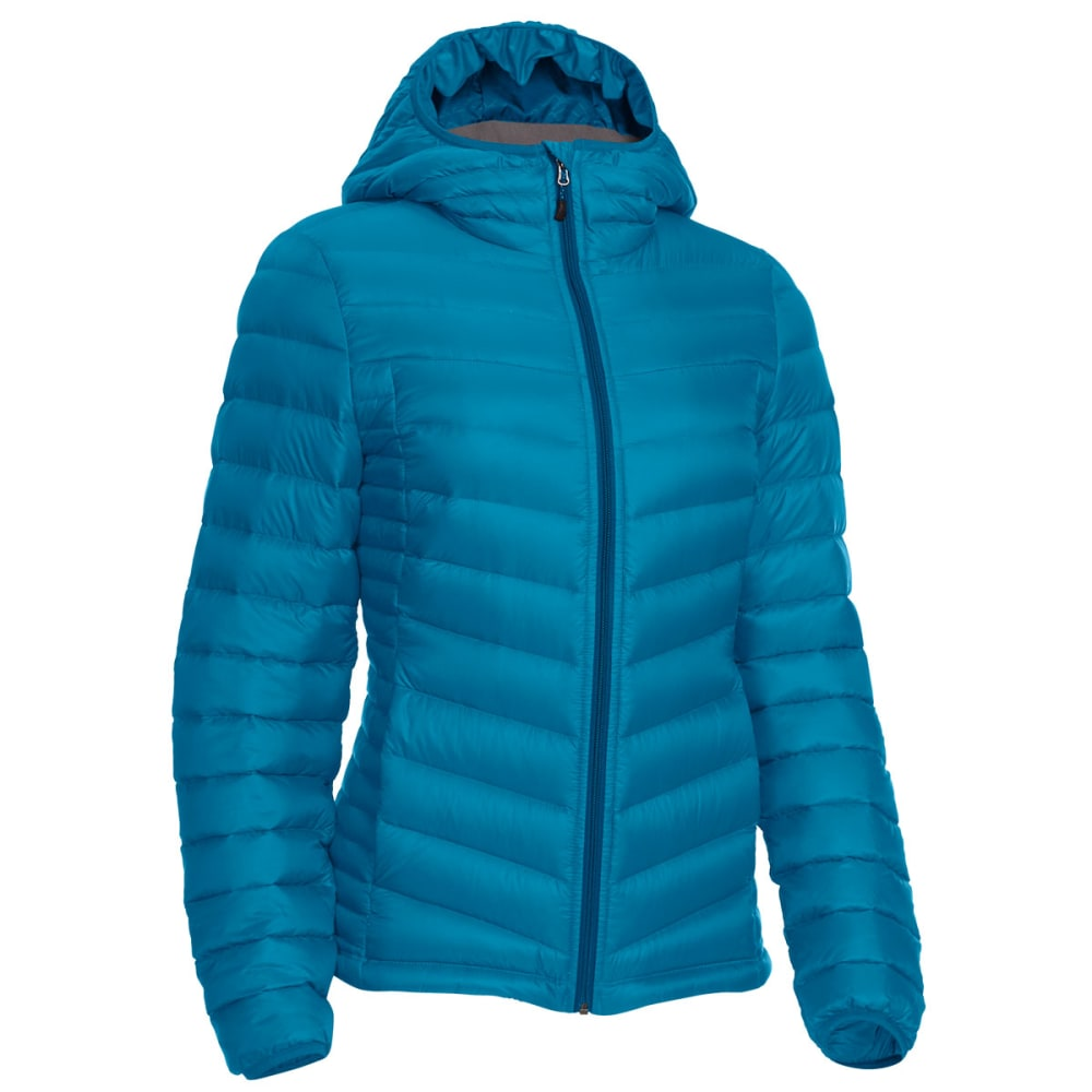 EMS Women's Feather Pack Hooded Jacket - DEEP LAGOON