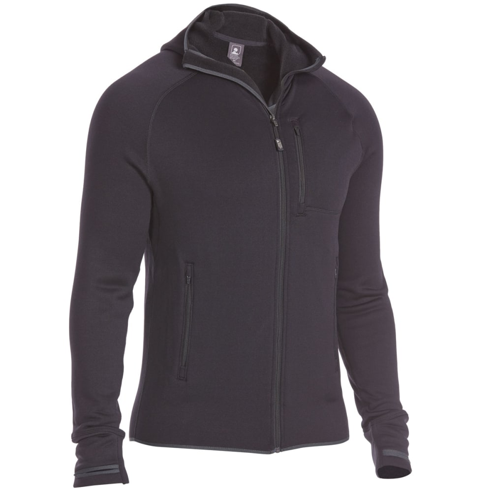 EMS Men's Equinox Power Stretch Hoodie - BLACK