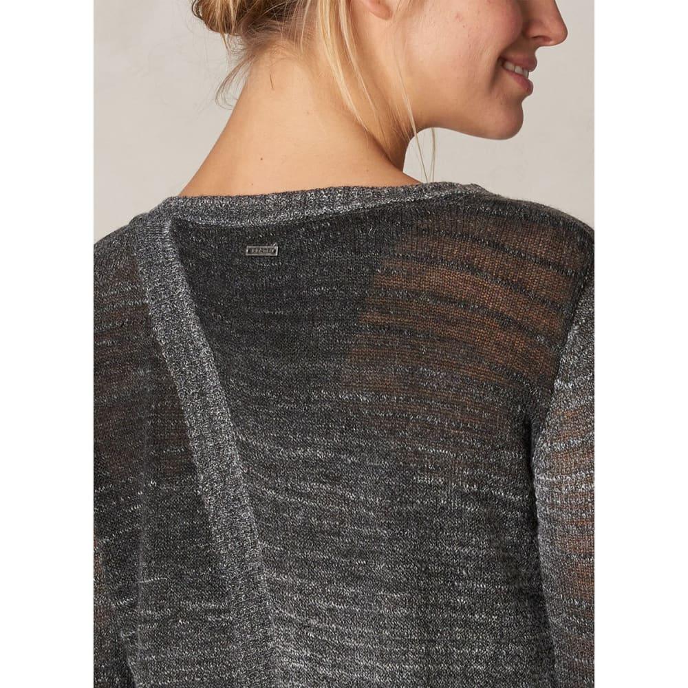 PRANA Women's Julien Sweater - CHARCOAL